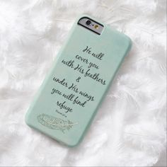 He will cover you with His feathers Bible Verse Barely There iPhone 6 Case #bibleverse #iphonecase