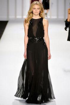 J. Mendel Fall 2012 | NY Fashion Week    I'm digging all the sheer love for Fall.  Beautiful dress
