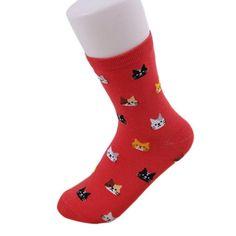 Candy Colored Cat Head Socks