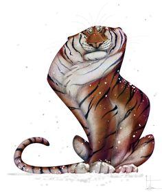 Funny Animal Illustration by Jean Baptiste Vendamme Art And Illustration, Character Illustration, Animal Illustrations, Chat Oriental, Animal Drawings, Art Drawings, Animation, Creature Design, Animal Design