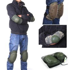4 Pcs Adult Tactical Combat Protective Pad Set Gear Sports Military Knee Elbow Protector Elbow & Knee Pads #clothing,#shoes,#jewelry,#women,#men,#hats,#watches,#belts,#fashion,#style