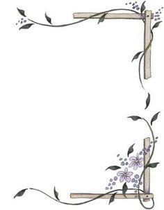 Bordes para decorar hojas - Imagenes y dibujos para imprimirTodo en imagenes y dibujos by Vania Yael