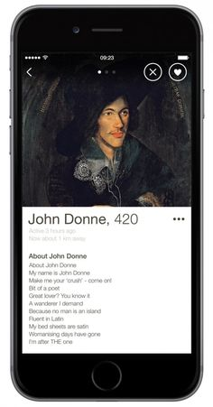 The Art Fund & Happn encourage cultural dates with branded profiles from  UK's top poets and painters