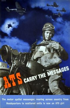 ATS Carry Messages WWII, 1939 - original vintage poster by Beverley Pick listed on AntikBar.co.uk