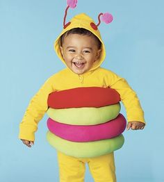 caterpillar costume -  tights filled with polyfill
