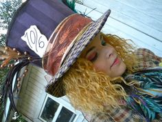 """""""Mad as a Hatter Holiday Decorating, Hallows Eve, Riding Helmets, Mad, Costumes, Halloween, Dress Up Clothes, Costume, Halloween Labels"""