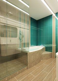Бирюзовая ванная. Ванная