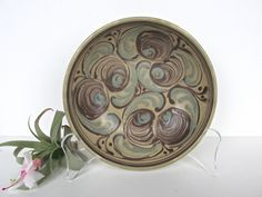 Vintage Rex Fayance Egersund Norge Norway Pottery Bowl, Blue And Brown Swirled Scandinavian Pottery Art Dish by HerVintageCrush on Etsy Pottery Bowls, Pottery Art, Scandinavian Bowls, Beige Background, Thoughtful Gifts, Etsy Store, Norway, Decorative Plates, Delicate