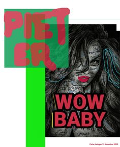 """Artist: Pieter Lategan Graphic Design Scrapbook Title: """"WOW BABY"""" Dimensions: 800 x 984 px Scrapbook Titles, Self, Pencil, Sketches, Graphic Design, Artist, Baby, Movie Posters, Drawings"""
