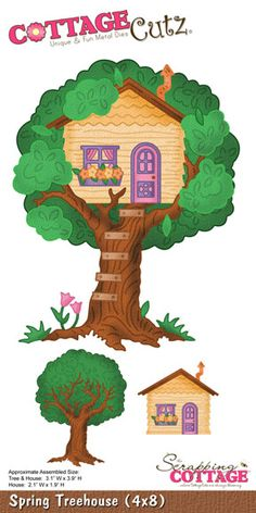 CottageCutz Spring Treehouse (4x8) PRE-ORDER