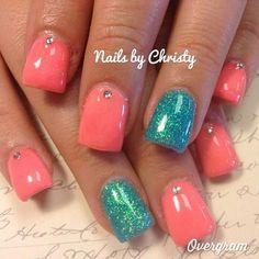 24 Trendy Wedding Nails For Bride Gel Teal is part of Fake nails Almond Colour - Fake nails Almond Colour Teal Nails, Shellac Nails, Love Nails, How To Do Nails, My Nails, Nail Polish, Pretty Nails, Bride Nails, Wedding Nails