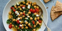 Stewed Garlic Kale and Chickpeas