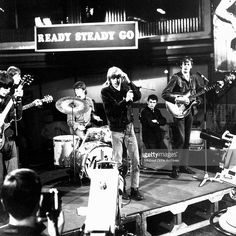Rock band 'The Yardbirds' perform on the TV show 'Ready Steady Go' on March 4, 1966 in London, England. Drummer Jim McCarty, guitarist Chris Dreja, guitarist Paul Samwell-Smith, singer Keith Relf and guitarist Jeff Beck.