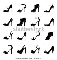 a set of 16 female fashion... on Shutterstock