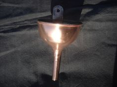 French Vintage Solid Copper Funnel With Wall Mount by Normandy Kitchen on Gourmly