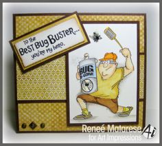 They're here! The new Ai Heroes!  Bug Buster set from Art Impressions.  Great for Father's Day or masculine birthday card.