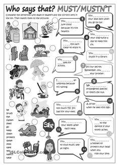 Modal verbs - MUST or MUSTNT