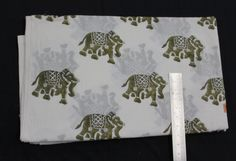 5 yards indian hand block print fabric Jaipuri Bagru print fabric Elephant Design Print Fabric White Background Fabric Hand Printed Fabric by BLOCKPRINTFABRIC on Etsy Hand Printed Fabric, Printing On Fabric, Elephant Design, Yards, Print Design, Indian, Creative, Prints, Cotton