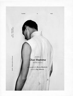"COVER & EDITORIAL Hunter Magazine Fall/Winter 2011 ""Dior Homme"" Feat. Matvey Lykov in Dior Homme by Bruno Werzinski"