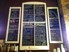 Chalkboard menu at Redline Coffee and Espresso Bar!