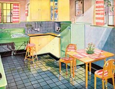 A Brief History of Kitchen Design from 1900 to 1920   Vintage kitchens from the 1920s are sturdy finds. Here's what the center of the home used to look like with plenty of vintage decor and charm.