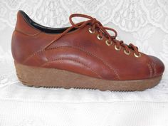 Vintage 1960s 1970s Shoes Oxfords by TimelessTreasuresVCB on Etsy, $26.00