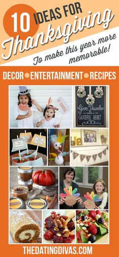 Fun ideas for Thanksgiving entertainment, decor, and recipes! I love this!!!  TheDatingDivas.com