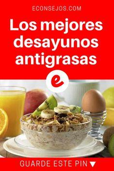 Desayunos saludables bajar de peso | Los mejores desayunos antigrasas | Conozca las mejores opciones para desayunos.