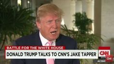 Full Video: Donald Trump: Interview with Jake Tapper on 'CNN State of the Union' on Ben Carson, Jeb Bush, Latest Polls