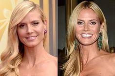 Mitte oder links? Heidi Klum trägt beides!