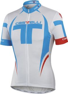 Castelli 2012 Mens Free Full Zip Short Sleeve Cycling Jersey A12016  WhiteCyanred 2XL     More info could be found at the image url.Note It is  affiliate link ... 07388a743