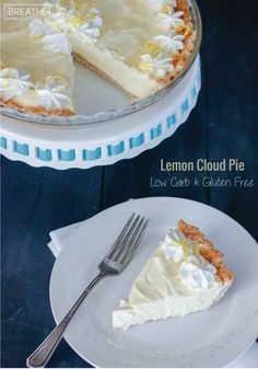 Lemon Cloud Pie  Low Carb & Gluten Free