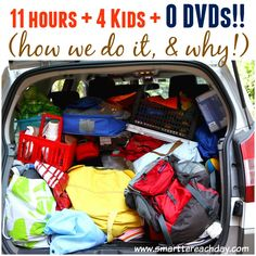 THE ULTIMATE FAMILY CAR TRIP GUIDE - 4 Kids, 11 Hours, And NO DVDs! Includes strategic snack info :) , Instructions on a Car Binder for each child, car ride games, behavioral tactics and MORE