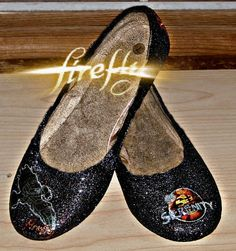 Firefly Serenity glitter ballet flat shoes by NerdStyle on Etsy