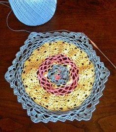 Lots of Crochet Stitches by M. J. Joachim: Progress on Latest Doily Project