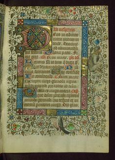 Book of Hours Decorated Initial Walters Manuscript W.211 fol. 152r by Walters Art Museum Illuminated Manuscripts