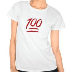 Hundred Points Symbol Emoji Tee Shirt