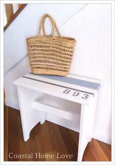 Coastal Home Love: Little Piano bench gets a Coastal makeover!