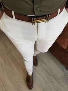 İtalyan kesim slim fit mevsimlik camel kumaş pantolon T3487 Trouser Outfits, Casual Outfits, Men Casual, Mens Fashion Suits, Fashion Pants, Fashion Outfits, Formal Men Outfit, Men Formal, Polo Outfit