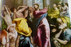 Nouveau Testament Le Christ chassant les vendeurs du Temple (détail)  El Greco (Londres)