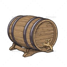Buy Side View of Wooden Barrel with Tap by Sabelskaya on GraphicRiver. Wooden barrel with tap resting on stands, sketch style vector illustrations isolated on white background. Side view o. Viernes Gif, Side View, Vector Graphics, Painted Rocks, Barrel, Vector Illustrations, Pirates, Fonts, Design