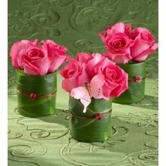 Inexpensive flower arrangement--no container