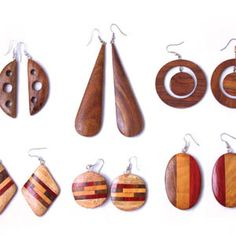 wooden earrings                                                                                                                                                                                 More