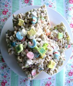 Lucky Charms Bars.  These are by far my favorite bad thing.  I will make them for St. Patty's Day this year.
