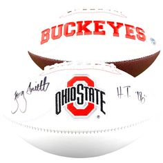 """Troy Smith Ohio State Buckeyes Fanatics Authentic Autographed Riddell White Panel Football with """"HT 06"""" Inscription - $103.99"""