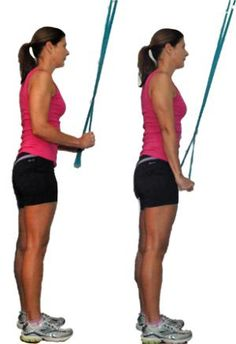 This workout includes the best exercises to strengthen and tone your triceps: Band Pushdowns