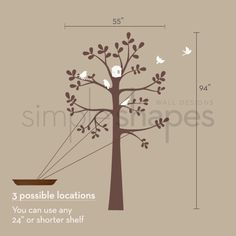 End Of Year Sale Tree Wall Decals The ORIGINAL by SimpleShapes