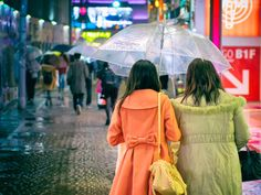 Rainy, cold and windy Sunday in Harajuku.   Tokyo Fashion