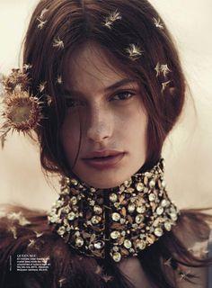 "Model: Cassi van den Dungen | Photographer: Will Davidson - ""The Sweetest Thing"" for Vogue Australia, April 2013"