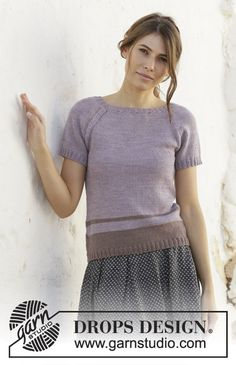 Lonely Horizon / DROPS - Free knitting patterns by DROPS Design Knitted top in DROPS BabyMerino. Piece is knitted top down with raglan and stripes. Size: S - XXXL Drops Design, Knitting Gauge, Free Knitting, Sweater Knitting Patterns, Crochet Patterns, Drops Baby, Magazine Drops, Drops Patterns, Drop Top